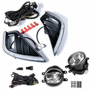 For Toyota Highlander 2020 2021 LED Fog Lamp Daytime Running Light Turn Signal
