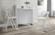 New Julian Bowen Helsinki White Wooden Compact Dining Table and Folding Chairs
