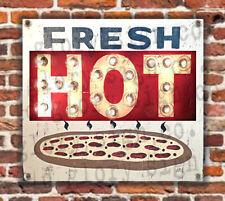 2' Fresh Hot Pizza banner sign Art shop kitchen wall decor Food diner restaurant