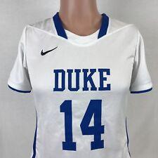 Nike Team Duke Blue Devils Womens Lacrosse Jersey White NCAA College ACC Sewn M