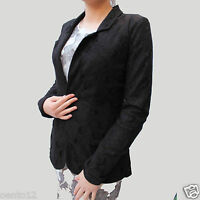 NEXT  Black Long Sleeve Jersey Lined Lace Blazer Jacket Cover up on Trend