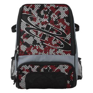 Boombah Recruit Baseball/Softball Maven Camo Bat Bag Backpack - Gray/Red/White