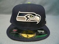 New Era 59fifty Seattle Seahawks Game On Field Sz 7 7/8 BRAND NEW Fitted cap hat