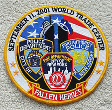 NEW YORK 9/11 HEROES PATCH NYPD FDNY Port Authority Police NY NJ Large Badge 5""