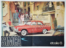 SIMCA étoile 6 - Publicité Prospectus original Vintage leaflet 1961