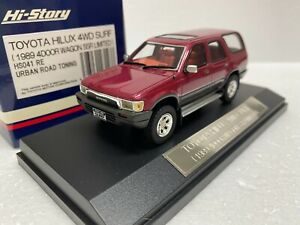 po 1/43 HI STORY HS041RE TOYOTA HILUX 4WD SURF 4 DOOR WAGON SSR LIMITED 4RUNNER