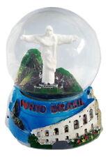 Souvenir Snowdome Brazil Rio de Janeiro Snowglobe Christ Redeemer statue 89mm
