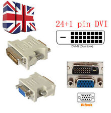 DVI-D DVI Maschio 24+1PIN a VGA SVGA 15PIN video Donna Convertitore Adattatore monitor