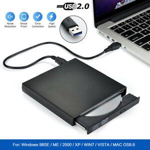 Slim External CD DVD RW Drive USB 2.0 Disc Player Burner Writer f/ Laptop PC Mac