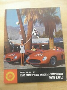 November 1956 First Palm Springs National Championship Races Carroll Shelby