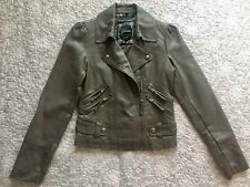 Guess Grey Faux Leather Jacket