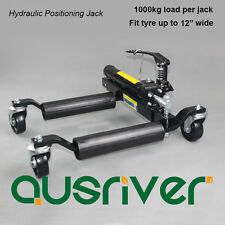 """New 12""""/1000kg Hydraulic Vehicle Positioning Jack Car Wheel Dolly Go Jack Black"""