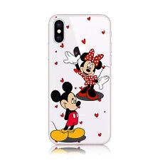 Funda gel dibujo Mickey y Minnie corazones para Samsung Galaxy A20e A70