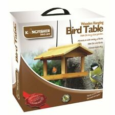 Hanging wooden Big money off Deals Bird table From kingfisher