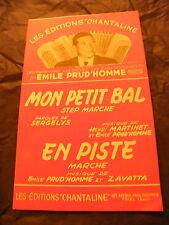 Partition Mon petit bal Martinet Prud'homme En piste Zavatta
