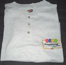 2005 eBay Anything Points Large Light Grey Short Sleeve Button T-Shirt--New