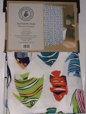 "Caribbean Joe Shower Tropical Rainbow Fish Curtain for Bathroom 70"" x 72"""
