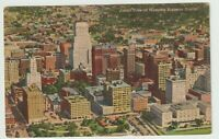 Unused Postcard Aerial View of Memphis Business District Tennessee TN