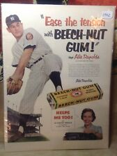VINTAGE ALLIE REYNOLDS ADVERTISEMENT NY YANKEES 1952 BEECHNUT GUM MAN CAVE