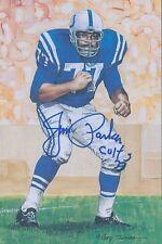 Jim Parker Signed 1989 HOF Goal Line Art Autograph Auto PSA/DNA Z44345