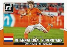 2015 Donruss Soccer 'International Superstars' #7 Daley Blind 179/199 Netherland