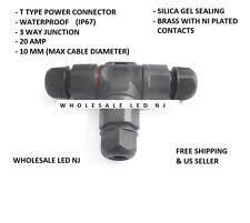 Waterproof T Type Power Connector 3 pin Cooler Light L20