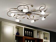 Plafonnier Style Campagne Lustre Lampe à suspension Acier/Verre satiné 54274