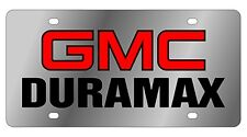 New GMC Duramax Red Logo Stainless Steel License Plate
