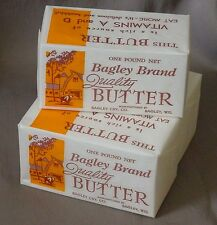 Bagley Brand Butter  3 Unused  1 LB. Wrappers / Labels  From Bagley,  Wisconsin
