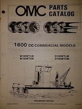 1988 OMC OUTBOARD 100 HP  1600CC COMMERCIAL MODELS PARTS CATALOG 0432196  9/87