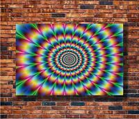 T1608 20x30 24x36 Silk Poster Psychedelic Trippy Colorful Art Print