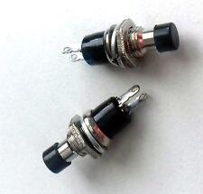 Momentáneo Mini en Off Botón Pulsador Micro Interruptor ON-OFF SPST 2 Pines Color Negro