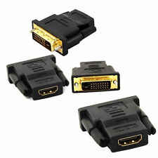 HDMI DVI-D MALE TO HDMI FEMALE ADAPTER CONVERTER (24+1) For LAPTOP VIDEO-D2