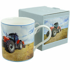 Tractor Mugs 3 Designs Gift Boxed Red