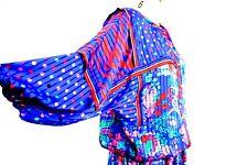 Diane Fres VTG 100% Polyester  Georgette Boho Gypsey  Floral Blouson Dress M L