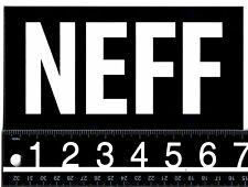 NEFF 7 in x 3.5 in STICKER Neff Headwear Snowboard Skate Surf Black/White Decal