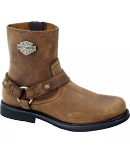 HARLEY DAVIDSON Men's Boot Scout Brown Leather Size 12M NEW