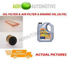 PETROL OIL AIR FILTER KIT + LL 5W30 OIL FOR PEUGEOT 207 CC 1.6 150 BHP 2006-12