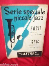 G. FOLCESI Facil + Spic 1958 Spartiti JAZZ