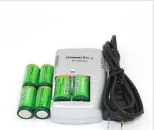 Etinesan 6 PCS 1350mAh 3v CR123A rechargeable  lithium camera battery + charger