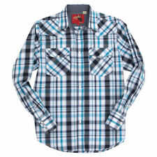 Rodeo Clothing Men's Western Pearl Snap Plaid Shirt New /w Defect Size Small