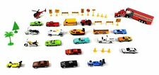 Deluxe City Speed Racing 40 Piece Mini Toy Diecast Vehicle Play Set For Kids