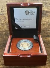 More details for 2018 gold half sovereign proof royal mint mark coin qeii coronation 5100 mintage