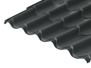 Tile Effect Roofing Sheets, Pan Tile Metal Profile Coated Metre Cover Devon