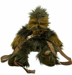 "Disney Star Wars Faux Fur Chewbacca Chewie Plush 24"" Wookie Backpack Bag"