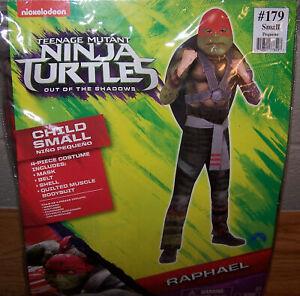 Size S 4/6 Boys Teenage Mutant Ninja Turtles Raphael Child 4-Piece Costume