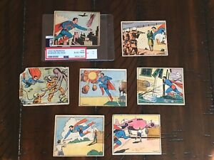 1940 Superman - Lot of 7 Low Grade High Numbers - 32, 36, 47, 51, 57, 58 & 68