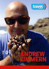 Andrew Zimmern signed original 5x7 publicity photo / autograph Bizarre Foods