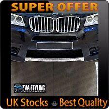 BMW X3 CHROME FRONT BUMPER TRIM COVER ACCESSORY SET 2010-14 UK STOCK
