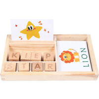 Wooden Spelling Game For Kids Learning Alphabet Letter Match And Word Spell Game
